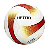 hetoo Waterproof Soccer Ball, Most Reasonable Construction Technology Football for Adult and Kids, Best Outdoor Sports Practice Soccer Ball-Size 5 (Size 5)