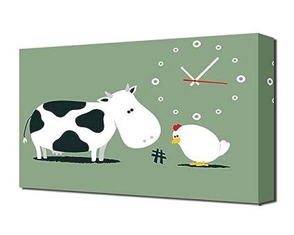 Orologi Da Parete In Tela : Home uk stile moderno tela salone del fumetto orologio da parete