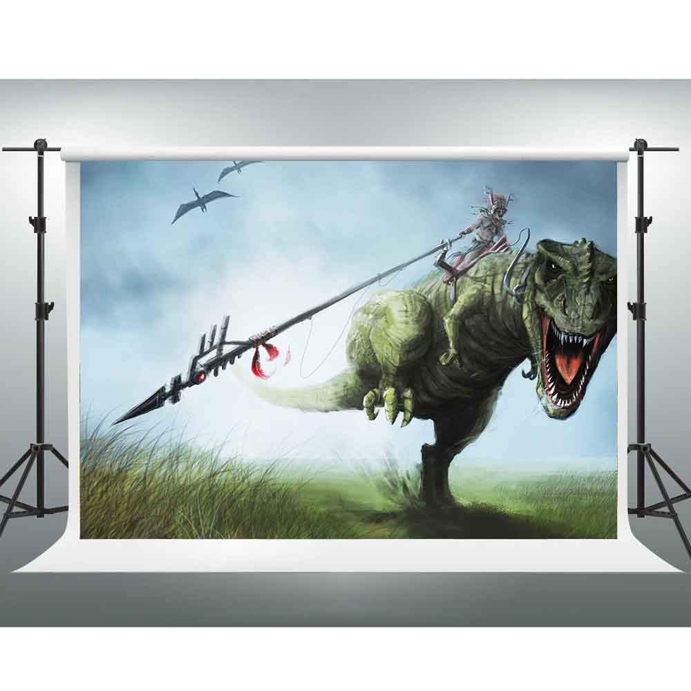 GESEN 恐竜 背景幕 10x7フィート サイエンスフィクション アニメ 写真背景 テーマパーティー用 チューブ 背景 写真ブース スタジオ小道具 PGE366   B07GBNPXDB