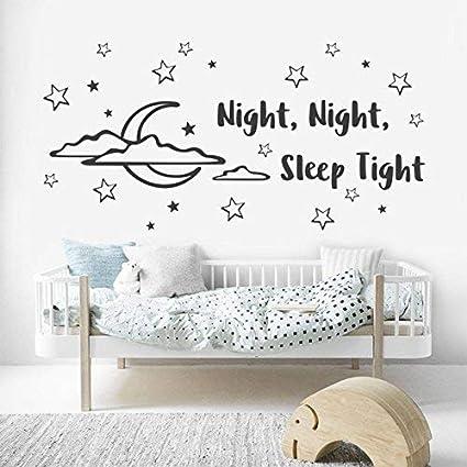 Amazon Com Evelyndavid Life Quotes Wall Stickers Good Night Baby
