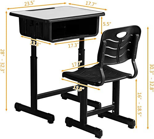 ShowMaven Student Desk and Chair Combo