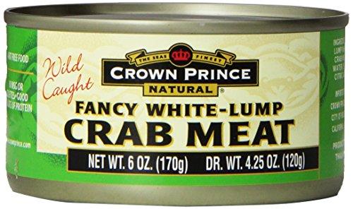 Crown Prince Fancy White Lump Crab Meat 6 oz