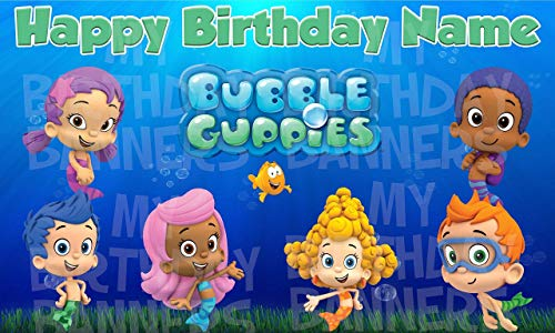 Bubble Guppies Birthday Banner Personalized Party Decoration]()
