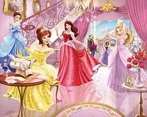 Walltastic WT4064 - Papel pintado para paredes con diseño de princesas de Disney, 2,4 x 3 m