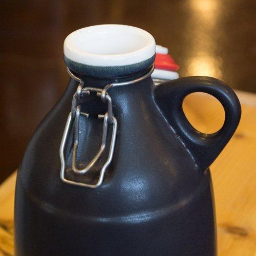 Ceramic Swing Top Growler with Wide Loop Handle - Matte Black - 64 oz by Portland Growler Co.