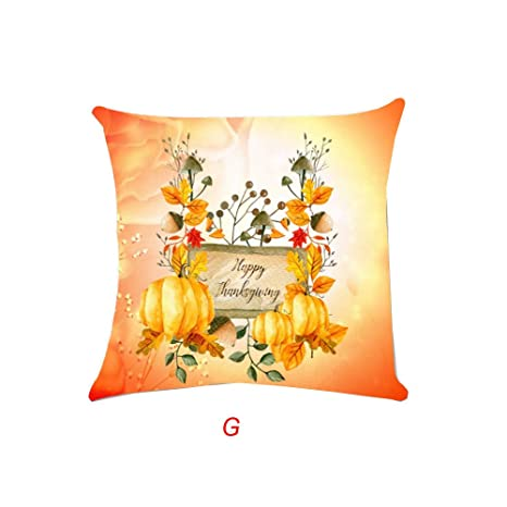 MAYOGO Fundas Cojines 45x45 Sofa Blanco Estampado Pumpkin ...