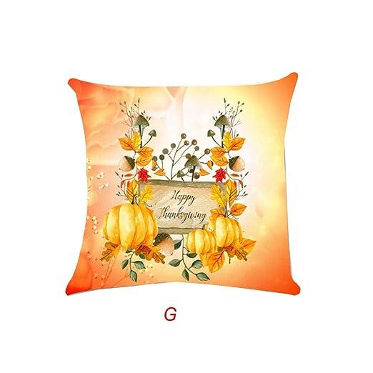 MAYOGO Fundas Cojines 45x45 Sofa Blanco Estampado Pumpkin ...