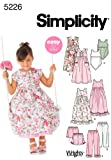 Simplicity Sewing Pattern 5226 Child Dresses, A (3-4-5-6-7-8)