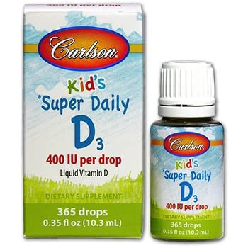 Carlson Super Daily D3 400 IU for Kids 0.35 fl.oz (10.3ml)
