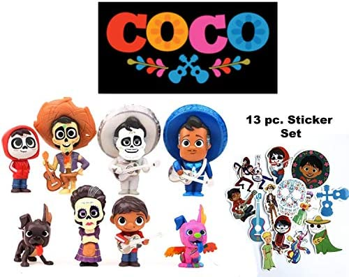 HIMEX BRANDS 8X Coco Cake Topper Figures Toy Set Miguel
