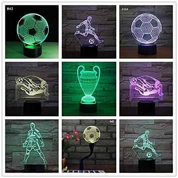 Luces de fútbol para niños Luces de Noche Lámparas de ...