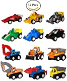 WINONE Pull Back Cars,Mini Toy Cars, 3 4 5 Year Old Boy Toys Car, 12 Pack Assorted Construction Vehicles and Racing Cars,Kids Toddler Truck Toy for Birthday Party Supplies,Holiday Gifts
