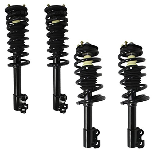 [Detroit Axle - Brand New All (4) Front & Rear Complete Strut & Spring Assembly - 1991-2001 Saturn S Series] (1991 Saturn S Series)