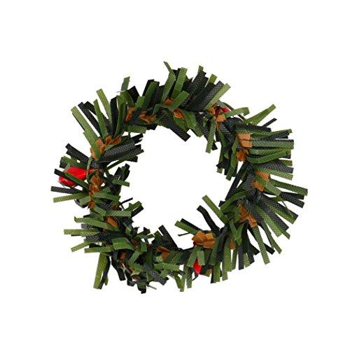 Iusun 10Pcs Christmas Wreaths Ornament Hanging Pendant Embellishment Decoration (A,10Pcs) (Wreath Christmas Cartoon)
