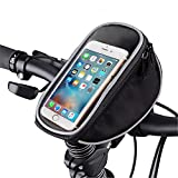 FOXNOV Bike Phone Mount Bicycle Holder, Universal Cell Phone Bicycle Rack Handlebar & Motorcycle Holder Cradle for Smartphone Phones Up To 3.5