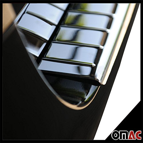 MERCEDES METRIS CHROME REAR BUMPER SILL COVER GUARD PROTECTOR TRIM STAINLESS STEEL