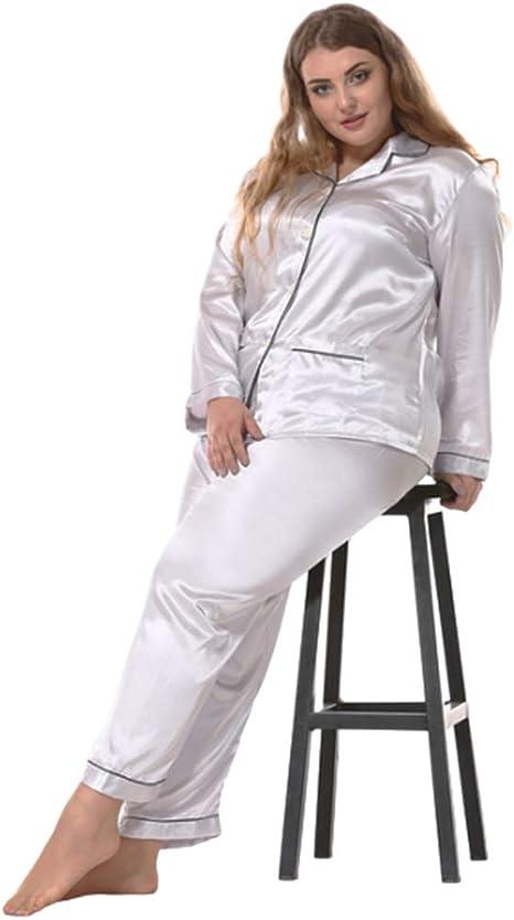 AEF Conjunto Pijamas Seda para Mujer Tallas Grandes Suave ...