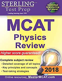 Amazon the mcat physics book 9781889057330 garrett biehle sterling test prep mcat physics review complete subject review fandeluxe Choice Image