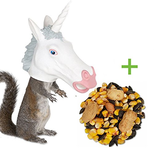 Unicorn Horse Head Squirrel Feeder