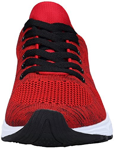Rosso Sportive Basse Donna Sneakers Corsa da Ginnastica Running Fitness KOUDYEN Scarpe Uomo Unisex Casual w0SZqxSOBp