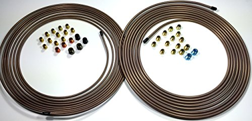 Copper Nickel Tube - 25 ft Roll of 3/16 AND 1/4 Copper Nickel Tube with Fittings