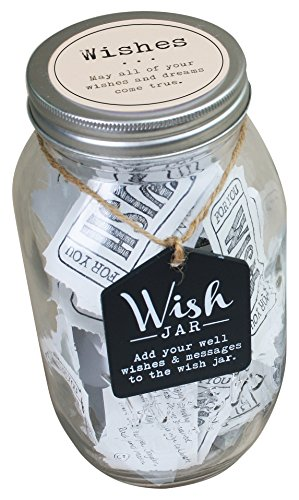 Wish Jar - Everyday Wishes Wish Jar ; Unique and Thoughtful Gift Ideas for Friends and Family ; Novelty Gift for Birthdays, Christmas, or Any Special Occasion ; Kit Comes With 100 Tickets & Decorative Lid