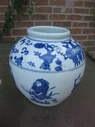 (Chinese antique ceramic/porcelain heavy ginger jar, Qing dynasty?)