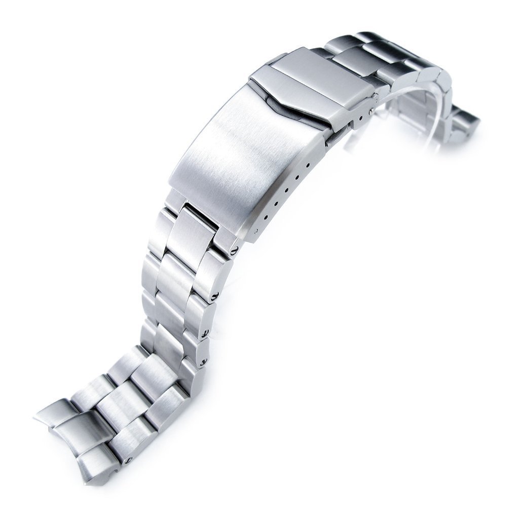 20mm Super Oyster Watch Bracelet for Seiko SKX013, Brushed 316L Stainless Steel, V-Clasp
