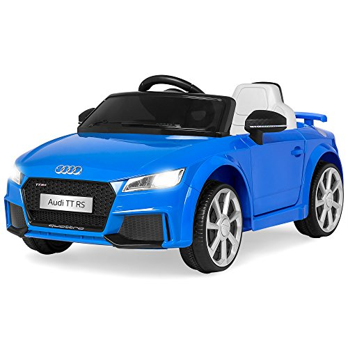 Best Choice Products Kids 6V Licensed Audi TT RS Ride On w/ 2 Speeds, Suspension, AUX Input, Blue