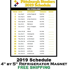 photo regarding Printable Steelers Schedule referred to as : Pittsburgh Steelers NFL Soccer 2019 Finish