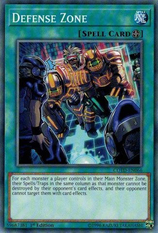 Defense Zone - COTD-EN066 - Common - 1st Edition - Code of the Duelist (1st Edition)