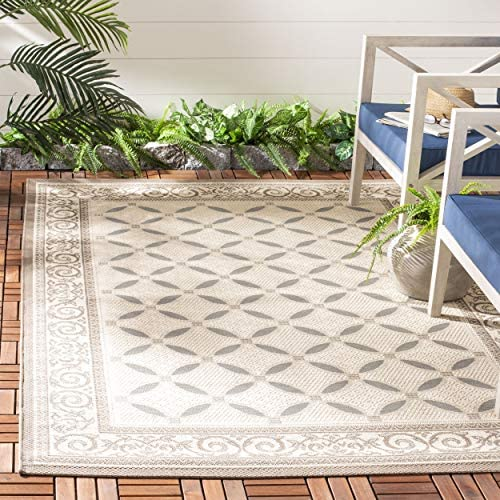 Safavieh Courtyard Collection CY7107-79A18 Beige and Dark Beige Indoor Outdoor Area Rug 9 x 12