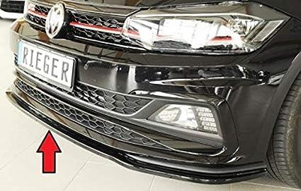 Rieger Frontal Alerón Espada Negro Brillante para Volkswagen Polo ...