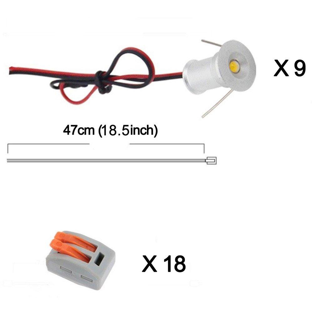 Recessed Downlights Hardwired Connectors Bookshelf Image 2