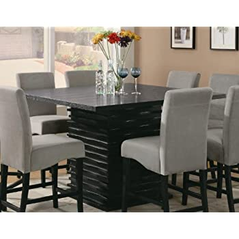 This Item Coaster Stanton Contemporary Counter Table In Black Finish