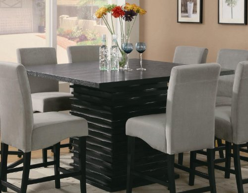 Coaster Stanton Contemporary Counter Table in Black (Coaster Dining Room Tables)