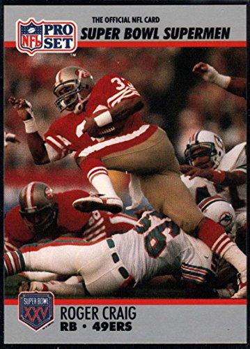 - Football NFL 1990-91 Pro Set Super Bowl 160 #39 Roger Craig NM-MT 49ers