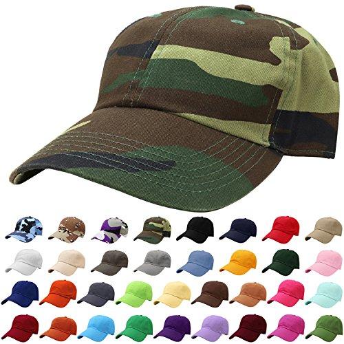 - Falari Baseball Cap Hat 100% Cotton Adjustable Size Woodland