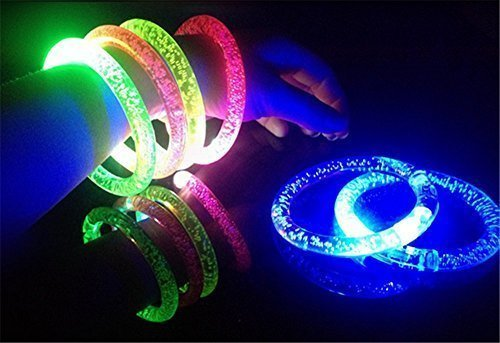 OliaDesign Flashing LED Bubble Bracelet - 12 pack