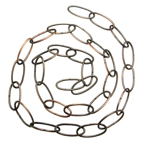 TOOGOO(R) 1M Heavy Duty Chain For Vintage Chandelier Hanging Lamp,Red bronze