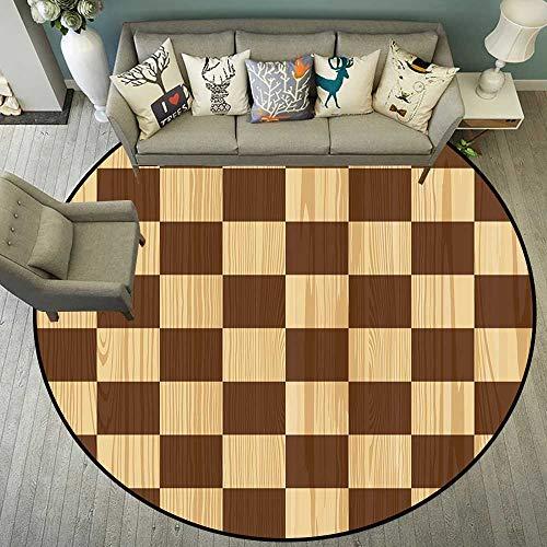 Round Floor mat Outdoor Round Indoor Floor mat Entrance Circle Floor mat for Office Chair Wood Floor Circle Floor mat Office Round mat for Living Room Pattern 5'10
