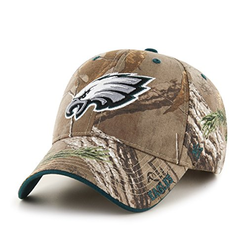 '47 NFL Philadelphia Eagles Frost MVP Camo Adjustable Hat, One Size Fits Most, Realtree Camouflage