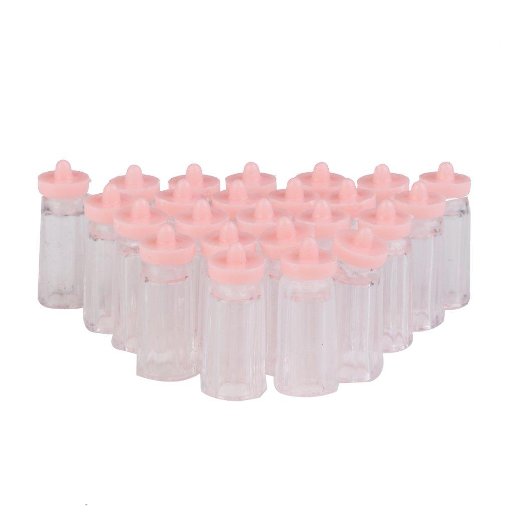 24PCS Mini Botellas de Leche Plástico de Bebé Rosa: Amazon.es: Juguetes y juegos