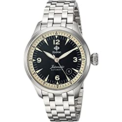 Zodiac Men's 'Jetomatic' Swiss Automatic Stainless Steel Casual Watch, Color:Silver-Toned (Model: ZO9107)