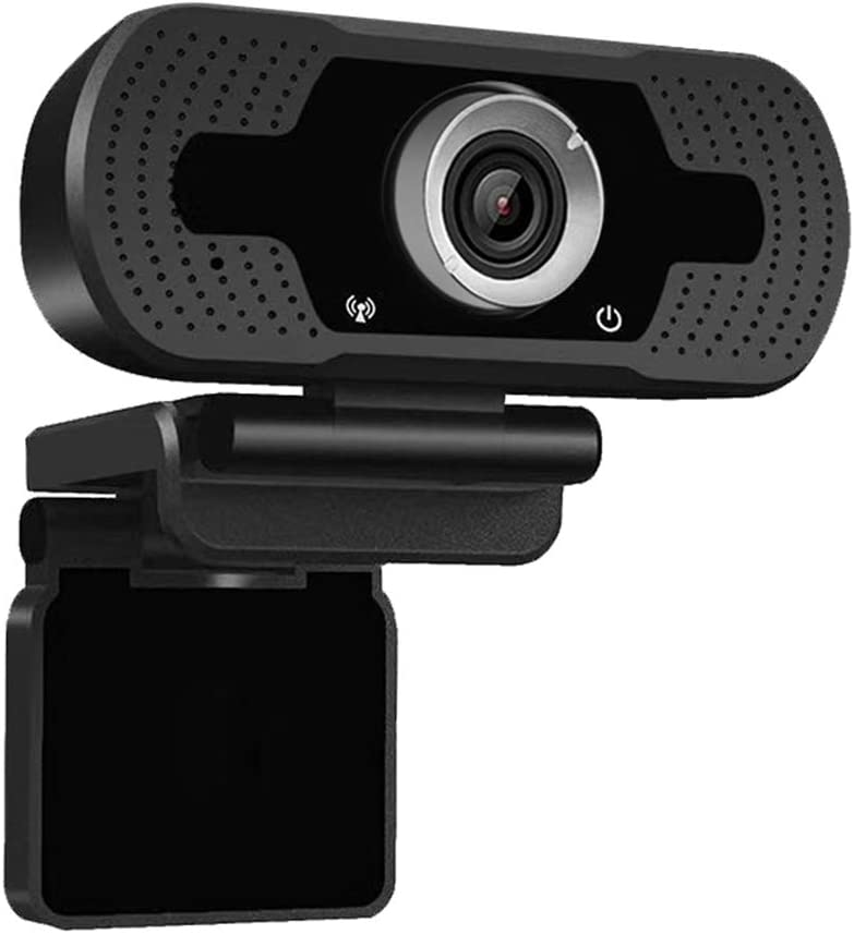Webcam with Microphone,1080p HD Webcam Streaming Computer Web Camera USB Cable for PC Laptop Desktop Video Calling,Conferencing on line Classes Grey