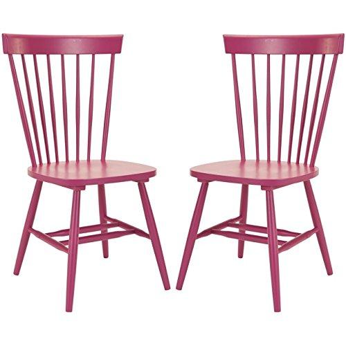 Safavieh Set of 2 Parker Side Chairs, Raspberry -  AMH8500D-SET2