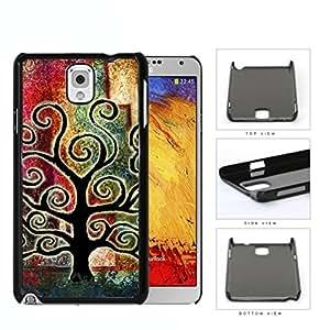 Tree Of Life Rustic Silhouette Hard Plastic Snap On Cell Phone Case Samsung Galaxy Note 3 III N9000 N9002 N9005
