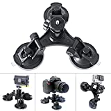 Fantaseal® Action Camera Car Suction Cup Mount Glass Mount Window Mount Car Support Holder Stand w/ 1/4'' Thread for SONY FDR-X3000R FDR-X1000VR HDR-AS300R HDR AS10 AS15 AS20 AS30 AS50 AS100 AS200 HDR AZ1 VTech Kidizoom Kids Camera Polaroid XS100 Kodak SP