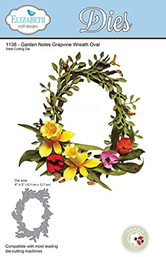 gns Dies - Garden Notes Grapevine Wreath Oval dies ()