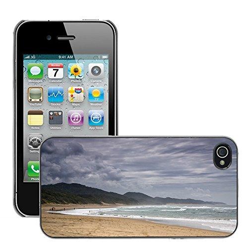 Stampato Modelli Hard plastica Custodie indietro Case Cover pelle protettiva Per // M00421629 Plage Côte Shore eau de mer de l'océan // Apple iPhone 4 4S 4G